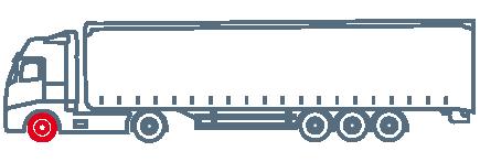 Рулевые (передние) шины на трейлер