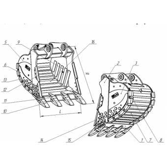 Ковш для экскаватора Volvo EC480DL