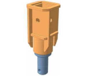 Переходник S5 квадрат 75 мм на вал диаметр 64 мм