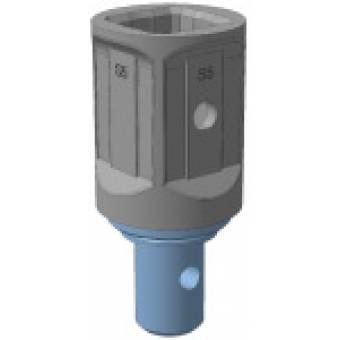 Переходник S5 квадрат 75 мм на вал S4 диаметр 65 мм