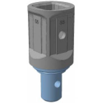 Переходник с S4 (D 65 мм) (хаб) на S5 (75х75 мм)
