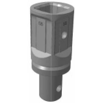 Переходник S5 квадрат 75 мм на вал диаметр 79 мм