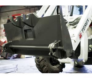 Быстросъемный механизм (быстросъём, БСМ) Quick Coupler (Квик-каплер) для фронтального ковша экскаватора-погрузчика Terex Impulse QC-BHL-T